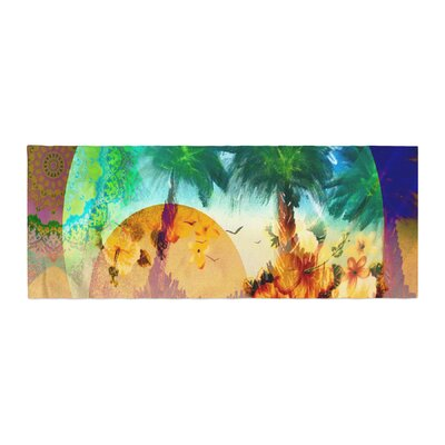Infinite Spray Art Paradise Patterns Bed Runner