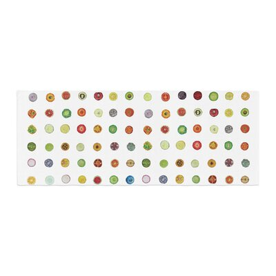 Theresa Giolzetti Fruit Pattern Food Painting Bed Runner