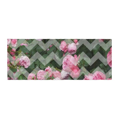 Suzanne Carter Chevron Rose Bed Runner