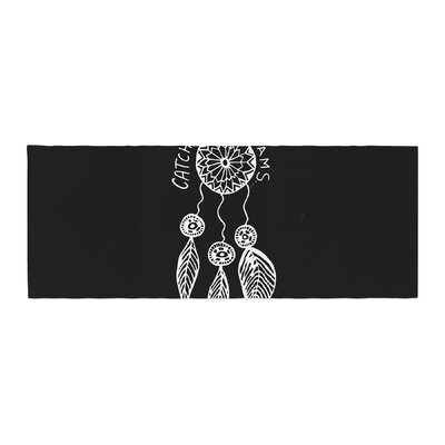 Vasare Nar Catch Your Dreams Typography Illustration Bed Runner Color: Black