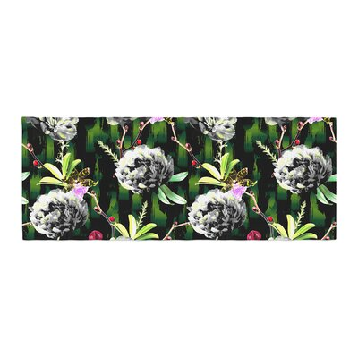 Victoria Krupp Twilight Peonies Digital Bed Runner