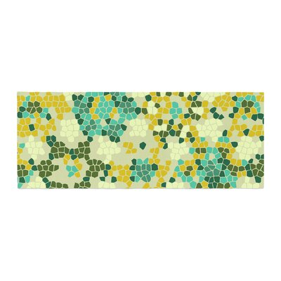 Laura Nicholson Flower Garden Mosaic Bed Runner