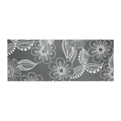 Louise Machado Floral Ink Bed Runner