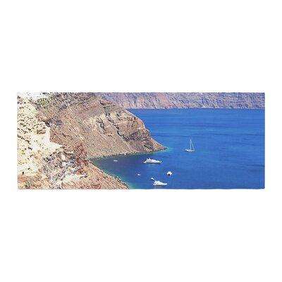 Sylvia Coomes Santorini Coastline Bed Runner