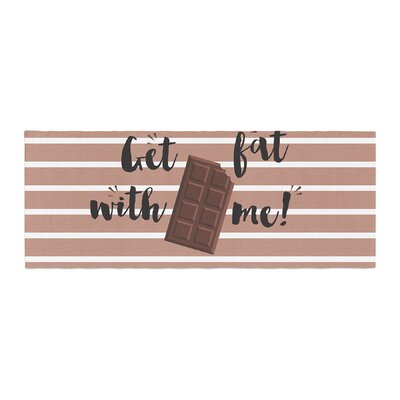 Get Fat Chocolate Bed Runner