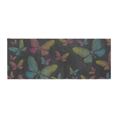 Snap Studio Butterflies II Chalk Bed Runner