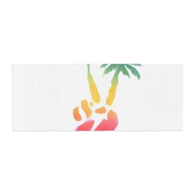 Infinite Spray Art Peace Palms Palm Tree Bed Runner