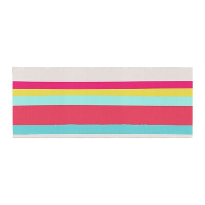 Nika Martinez Girly Surf Stripes Bed Runner