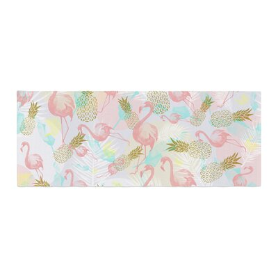 Mmartabc Tropical Fruit Animals Illustration Bed Runner