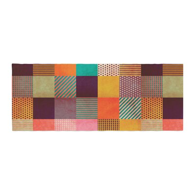 Louise Machado Decorative Pixel Warm Patches Bed Runner