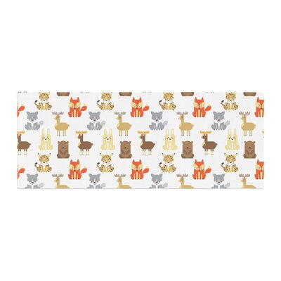 Petit Griffin Retro Animals Bed Runner