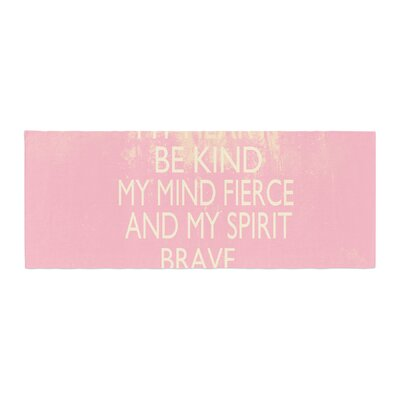 Suzanne Carter Kind Typography Bed Runner Color: Pink
