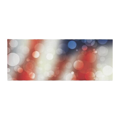 Patriot America Bokeh Bed Runner
