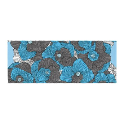 Skye Zambrana In Bloom Floral Bed Runner Color: Blue/Gray
