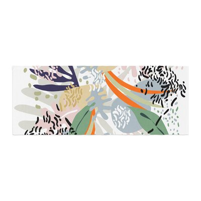 Mmartabc Abstract Marine Shapes Illustration Bed Runner