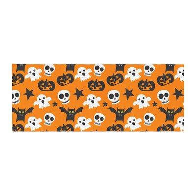 Spooktacular Halloween Pattern Bed Runner