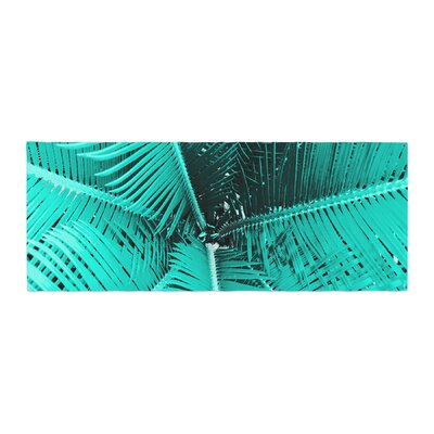 Suzanne Carter Palm Bed Runner Color: Aqua