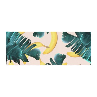 83 Oranges Banana Leaves and Fruit Mixed Media Bed Runner