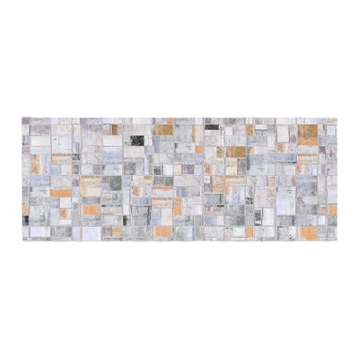 Susan Sanders Tile Squares Photography Bed Runner