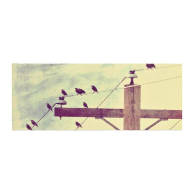 Sylvia Coomes Vintage Birds on a Wire 2 Digital Bed Runner