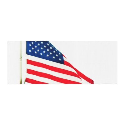 Sylvia Coomes American Flag Holiday Bed Runner