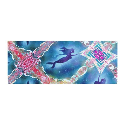 Infinite Spray Art Mermaid Pattern Bed Runner