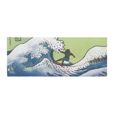 Infinite Spray Art Hokusai Remake Bed Runner