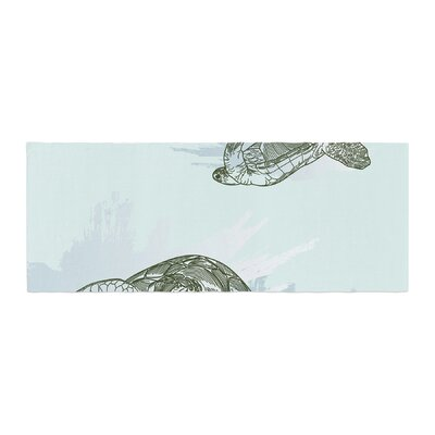 Sam Posnick Sea Turtles Bed Runner