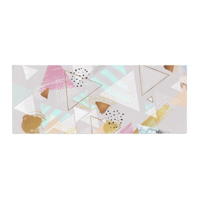 Mmartabc Abstract Triangles Texture Digital Bed Runner