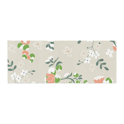 Very Sarie Early Waking Floral Bed Runner