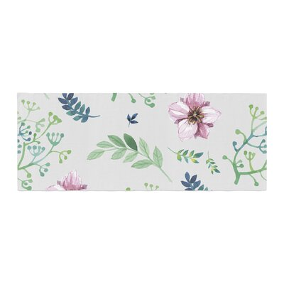 Louise Summer Flower Pattern Bed Runner