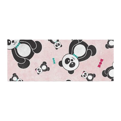 Noonday Design Panda Freefall Bed Runner