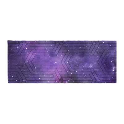 Matt Eklund Cosmic Labyrinth Bed Runner