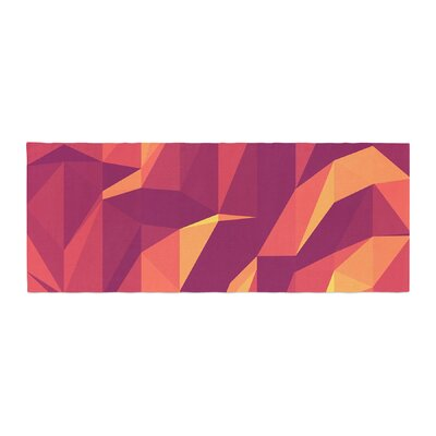 Strawberringo Abstract Mountains Abstract Bed Runner