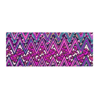 Nika Martinez Electric Chevron Bed Runner