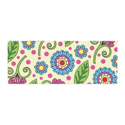 Sarah Oelerich Polka Dot Garden Floral Pattern Bed Runner