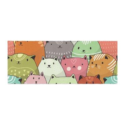 Snap Studio Kitty Attack Cat Illustration Bed Runner