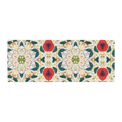 Laura Nicholson Persimmons Abstract Bed Runner