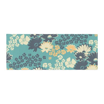 Zara Martina Mansen Bouquet Bed Runner Color: Teal