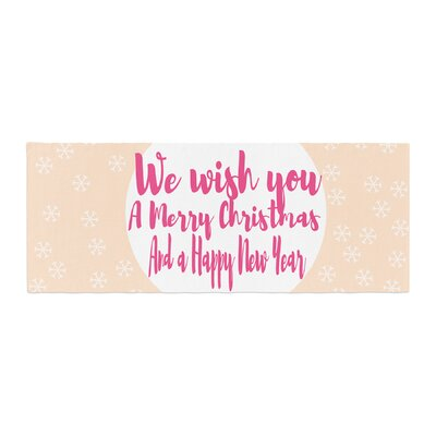 Suzanne Carter Merry Chistmas and Happy New Year Bed Runner