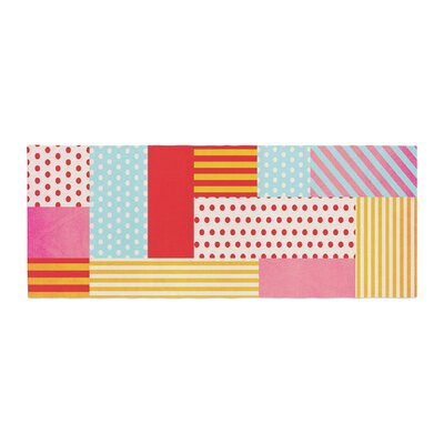 Louise Machado Geometric Pop Abstract Bed Runner