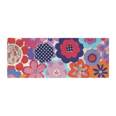 Louise Machado Patchwork Flowers Bed Runner