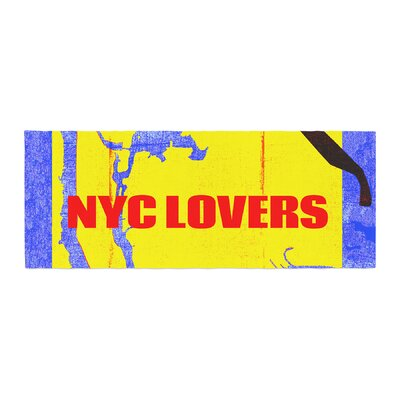 Lazar Milanovic NYC Lovers Bed Runner