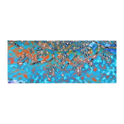Li Zamperini Mandala Art Abstract Bed Runner Color: Turquoise