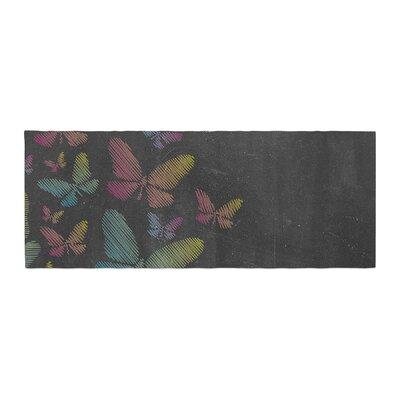 Snap Studio Butterflies Chalk Bed Runner
