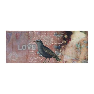 Suzanne Carter Faith Hope Love Typography Bed Runner