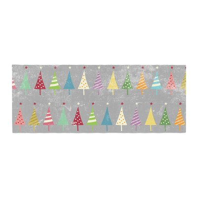 Snap Studio Crazy Trees Bed Runner Color: Frost