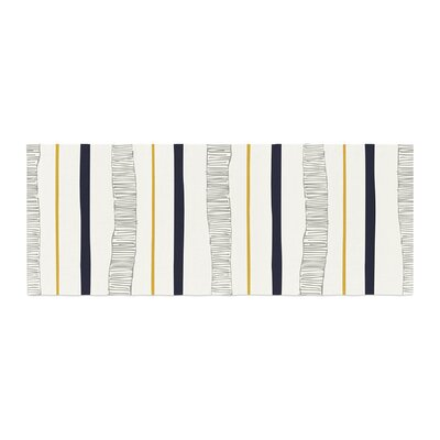 Laurie Baars Textured Stripes Abstract Lines Bed Runner