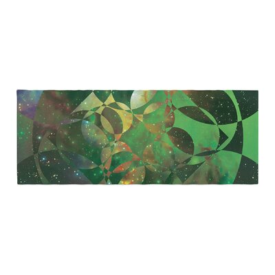 Matt Eklund Galactic Brilliance Geometric Bed Runner Color: Green