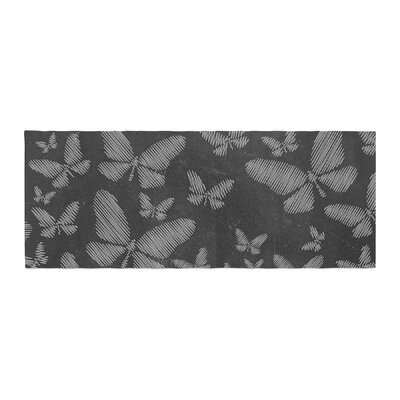 Snap Studio Butterflies III Chalk Bed Runner